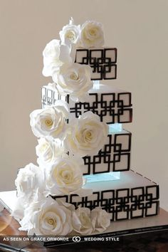 architectural wedding cake inspiration