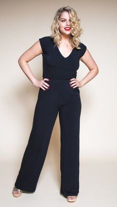 0780c9d9c7 The Sallie Jumpsuit   Maxi Dress Sewing Pattern - Closet Case Patterns -  Available from The Fold Line