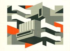 Iconic London landmarks get a linocut makeover in new exhibition of artist Paul Catherall's work Building Illustration, Graphic Design Illustration, Architecture Drawings, Architecture Illustrations, Architecture Design, Architectural Prints, Art Moderne, Textiles, Bauhaus