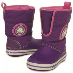 Crocs Crocslight Gust Boot PS Kids Neon Purple/Party Pink C8 (25,0) | MALL.SK
