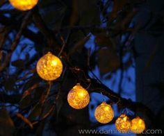 The Aurora Glow Solar LED String Lights bring a unique and enchanting vibe to your home. Being solar powered are a great choice for the backyard, gathering power during the day and turning on at dusk.. This set contains six hand-blown glasses made of white glass that coe with 6 copper hooks. To be honest they look great as tree or living wall ornament.