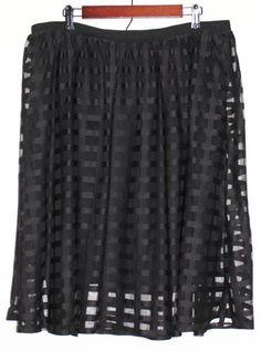 $39.95 New Women's Anne Klein AK Beige Stretch Belted A Line Skirt ...