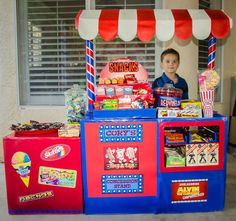 Childs backyard movie theater concession stand