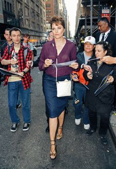 Lucy Lawless in NYC