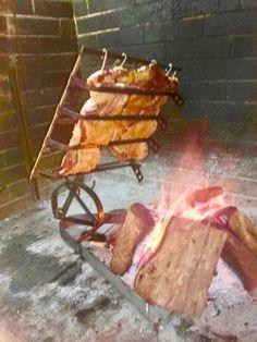 Argentine Grill, Kitchen Equipment, Backyard Bbq, Farm Gardens, Grills, Lamb, Roast, Cooking, Smoke