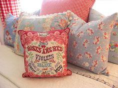 Vintage fabric pillows