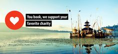 You book, we help the charity you choose! We receive commission for every hotel room that is booked on our website through the reservation system of Booking .com. 50% of that money is guaranteed to be donated to the charity of your choice. We use the other 50% to keep our site online, make improvements and get more people to #bookdifferent #greenhotels #charity #travel