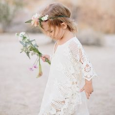 Image result for bohemian flower girl dress toddler