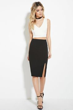 Cutout Back V-Neck Crop Top