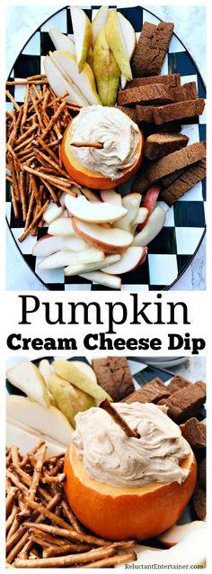 Pumpkin Cream Cheese Dip Pumpkin Cream Cheese Dip, Pumpkin Dip, Cream Cheese Dips, Pumpkin Recipes, Pumpkin Spice, Apple Recipes, Thanksgiving Recipes, Fall Recipes, Holiday Recipes