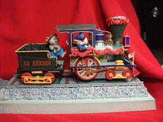 RARE Enesco Right on Track Mice Locomotive Multi Action Light Music Box | eBay