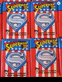 Superman 1983 Lot (4) Wax Packs Topps Trading Cards Stickers Non-sport Retro @ niftywarehouse.com #NiftyWarehouse #Superman #DC #Comics #ComicBooks
