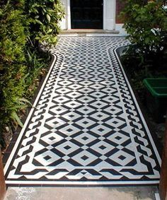 geometric Floor tiles, period look or modernise an old design. Variety of shapes, sizes & colours, frost resistant suitable for interior or exterior. Victorian Tiles, Victorian Terrace, Victorian Flooring, Victorian Front Garden, Victorian Kitchen, Edwardian Hallway, Front Path, Front Garden Path, Ladders