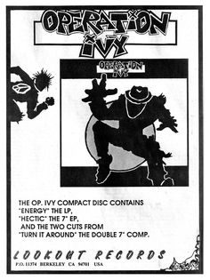 LOOKOUT RECORDS: Operation Ivy
