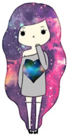 Galaxy Chibi girl (credit to @TheBestFangirl)