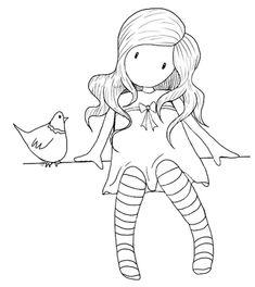 Boneca gorjuss e galinha