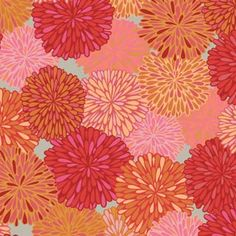Bloom - Mandarin. From Valori Wells. #fabric #quilting #sewing