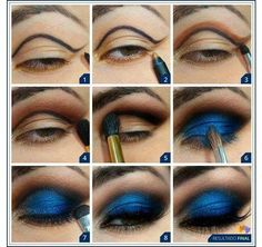 Navy Blue Eyeshadow Tutorial https://www.youniqueproducts.com/KateMerle/party/125509/view