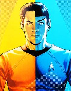 Kirk/Spock  by David Messina  #startrek
