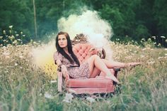 I'm not blow away by this image or anything (especially don't dig the chair,) but I like the idea of bringing in outside elements (smoke) to a scene like this. For a certain kind of portrait, it could work.