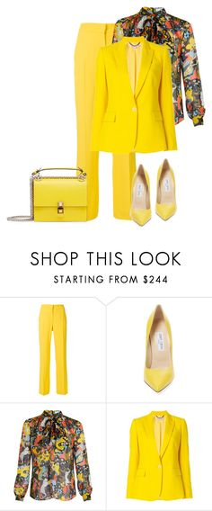"""""""outfit ,7533"""" by natalyag ❤ liked on Polyvore featuring N°21, Jimmy Choo, Mary Katrantzou, STELLA McCARTNEY and Fendi"""