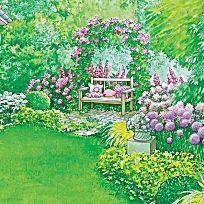 Die meisten Gestaltungstipps für schmale, lange Gärten sind für kurze, breite Grundstücke nicht zu empfehlen. Da der Garten mehr Tiefe erhalten soll, sind optische Tricks gefragt, die diesen Effekt unterstützen.