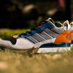 adidas Originals Blue ZXZ 930 Chalk/Rhythm Yellow/Aluminum: adidas Originals Blue pays tribute to the classic ZX runners of with the eye-catching ZXZ The mid-cut shoes feature an eclectic mix of m. Zx Adidas, Blue Adidas, Adidas Sneakers, Japanese Lifestyle, Adidas Originals, The Originals, Next Fashion, Clothes Horse, Contemporary Fashion