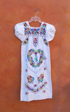 Vintage 1970s White Mexican Oaxacan Midi by SweetPickinsShop