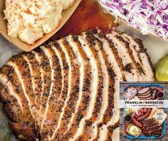 Aaron Franklin's BBQ Turkey Breast Recipe - Aaron Franklin's BBQ Turkey Breast Recipe - Bbq Turkey, Smoked Turkey, Smoked Chicken, Bbq Chicken, Chicken Wings, Chef Recipes, Turkey Recipes, Cooking Recipes, Yummy Recipes