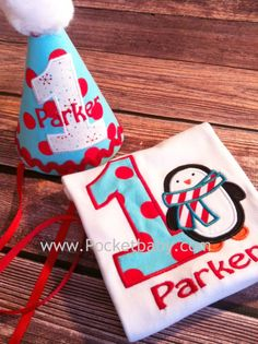 Personalized Penguin Birthday Shirt and Matching by Pocketbaby, $43.50