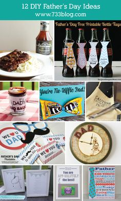 12 #DIY Father's Day Gifts. #FathersDay #gifts