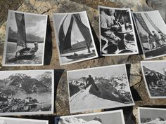 10 unused black and white bromide #photos of Switzerland - Vintage 1939 Photos made by Suchard Chocolate Company…