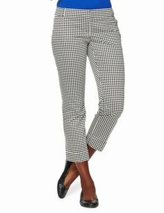The Limited - Drew Tab-Waist Cuffed Ankle Pants in Houndstooth: $54.90