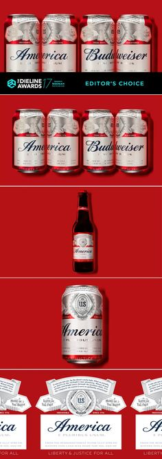 The Dieline Awards 2017: America Beer (Budweiser) — The Dieline | Packaging & Branding Design & Innovation News