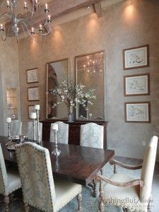 English Manor House 2-Story Dining Room | Anything But Plain