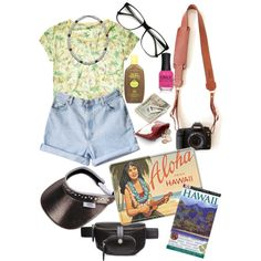 Tacky Tourist | Halloween Costume (2) by thelifeofthesunflowerqueen on Polyvore featuring Scotch & Soda, Alexander Wang, Retrò, Crate and Barrel, ORLY and Guide London