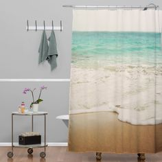 Funny Animals Pet Summer Ocean Beach Holiday Green Slippers Waterproof Polyester Home Bath Supplies Hanging Curtains Set With Hooks 69 X 70 Inch Green Red Blue Gray Cat Shower Curtain Bathroom Decor