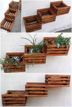 creative pallet wall planter