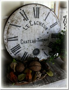 DIY Clock Face-just love this and can make it any size you want!