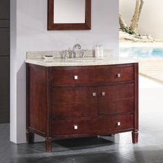 Shop OVE Decors Georgia Tobacco Undermount Single Sink Birch Bathroom Vanity with Granite Top (Common: 42-in x 22-in; Actual: 42-in x 22-in) at Lowes.com
