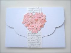 Favorite  Like this item?    Add it to your favorites to revisit it later.  The ROCHELLE Range Vintage handmade wedding invitation french shabby chic Rose Pink color heart