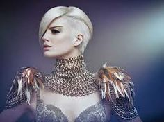 This is UNDERCUT and it's blonde! Very nice! :)