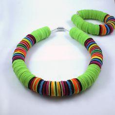 Naszyjnik Madame Łowiczanka No 5 w Madame Qukardka na DaWanda.com Turquoise Bracelet, Bracelets, Etsy, Jewelry, Blue Prints, Beads, Fimo, Upcycled Crafts, Jewlery