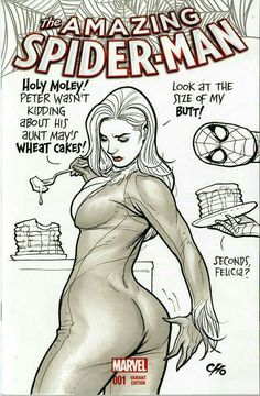 Amazing Spider-Man variant Black Cat cover (MG)