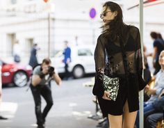 Velvet dress/ Givenchy clutch
