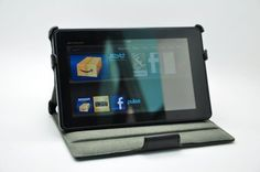 Slim Leather Case Folio with built-in Stand for Kindle Fire