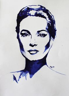 Grace Kelly Portrait! $200 with frame and mounting, ready to be hung!!