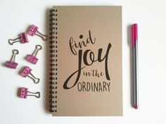 Writing journal spiral notebook small by JournalandCompany on Etsy