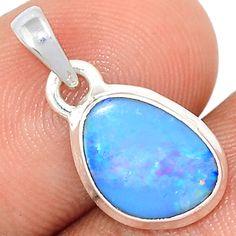 Australian Opal 925 Sterling Silver Pendant Jewelry AUFP945
