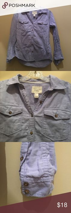 New Forever 21 light blue cotton LS shirt, XS New Forever 21 casual light blue button down shirt, 100% cotton, 2 front button down pockets, X Small Forever 21 Tops Button Down Shirts